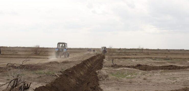 Мойынқұм ауданында егін егу жұмыстары тиянақты жүргізілуде